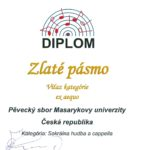 Bratislava Slovakia Cantat 2016 - zlaté pásmo duchovní hudba