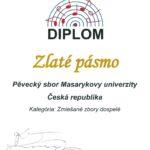 Bratislava Slovakia Cantat 2016 - zlaté pásmo smíšené sbory